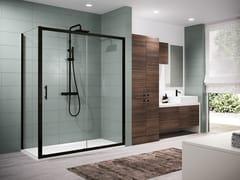 NOVELLINI, ZEPHYROS 2P Box doccia angolare con porta scorrevole e anta fissa