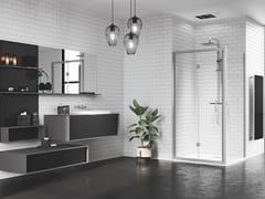 Box doccia angolare con porta a soffiettoZEPHYROS | S - NOVELLINI