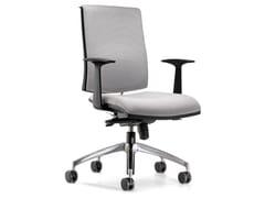 Sedia ufficio operativa girevole in tessuto con ruoteZERO7 | Sedia ufficio operativa in tessuto - ARES LINE