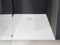 Piatto doccia rettangolare in Ceramilux®ZEROMATT - ANTONIO LUPI DESIGN®