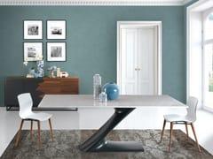 Tavolo da pranzo rettangolare su misura ZETA | Tavolo in marmo di Carrara - Oliver B. Casa