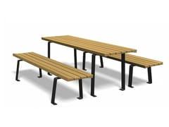 Tavolo per spazi pubblici rettangolare in legnoZETAPICNIC | Tavolo per spazi pubblici rettangolare - EUROFORM K. WINKLER