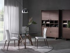 Tavolo rotondo in legno e vetro ZEUS | Tavolo rotondo -