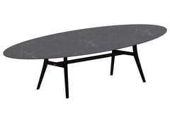 Tavolo da giardino ovale in ceramicaZIDIZ | Tavolo ovale - ROYAL BOTANIA