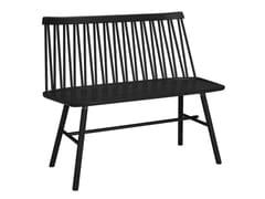Panca in frassino con schienaleZIGZAG 660S | Panca in legno massello - GLOBAL FURNITURE I SKENE