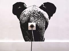 Decorazione adesiva in vinileZOO ELEPHANT - MOUSTACHE