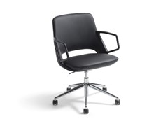Sedia ufficio girevole in pelle a 5 razze con braccioliZUMA | Sedia ufficio a 5 razze - ARTIFORT