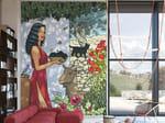 Pop art nonwoven wallpaper