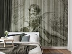 Vinyl or fyber glass wallpaper