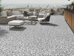 Indoor/outdoor porcelain stoneware flooring