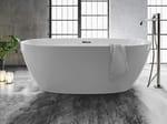 Oval acrylic bathtub
