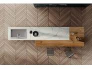 Küche mit Kücheninsel 36E8 MARBLE XGLASS | Küche mit Kücheninsel by Lago