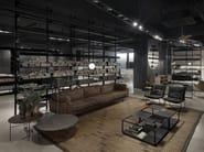 Librería composable de aluminio extrudado 606 UNIVERSAL SHELVING SYSTEM by DE PADOVA