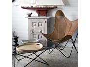 Folding leather armchair AA© TOSCANE by AIRBORNE