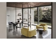 Open floor-ceiling mounted divider bookcase ALBA by arflex