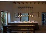 LED blown glass pendant lamp ALGORITHM by Vibia
