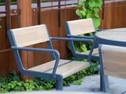 APRIL | Seduta da esterni in acciaio zincato