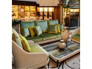 Low resin garden side table ARALIA | Coffee table by Samuele Mazza Outdoor