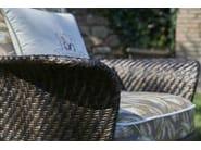 Fabric garden armchair with armrests ARALIA | Garden armchair by Samuele Mazza Outdoor