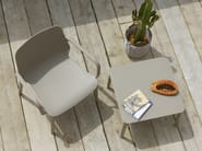Square technopolymer coffee table ARGO by SCAB DESIGN