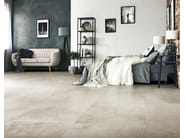 Glazed stoneware wall/floor tiles with concrete effect ARTIFACT OF CERIM by CERIM