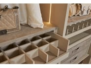 Internal pull-out tray with grid Canapa mat lacquered