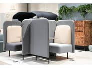 High-back fabric lobby chair AUGUST NOOK by SOFTREND