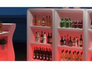 Móvel bar de polietileno BARTOLOMEO DISPLAY LIGHT by Plust