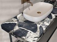 BATH DESIGN | Piano lavabo ABK BATHDESIGN 10 LAB325 Base Pearl washbasin top SENSI Grand Antique Lux