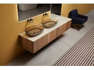 Wall-mounted vanity unit BINARIO by Antonio Lupi Design