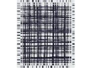 Handmade rectangular rug BROOKFIELD INK by Tapis Rouge