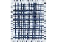 Handmade rectangular rug BROOKFIELD NAVY by Tapis Rouge