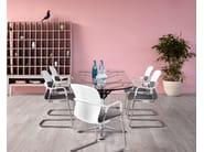 Table de réunion extensible ovale en aluminium et verre BURDICK | Table de réunion ovale by Herman Miller