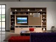 Calendario 216.Freestanding Wooden Tv Wall System Calendario Industrial