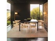 Wooden chair with integrated cushion CAROLA SI0906 by Andreu World