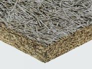 Pannello termoisolante / pannello fonoisolante in lana di legno mineralizzata