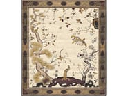 Handmade rectangular rug CHINESE PHEONIX BRONZE by Tapis Rouge