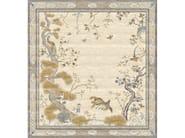 Handmade rectangular rug CHINESE PHEONIX CELESTE by Tapis Rouge