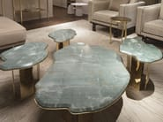 Low marble coffee table CLAUDE by Paolo Castelli