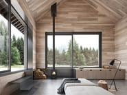 Porta-finestra alzante scorrevole in legno
