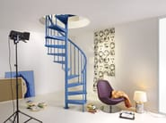 Helical steel Spiral staircase in kit form CLIP by Fontanot