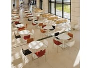 Round steel table COLORS BM4550 | Round table by Andreu World