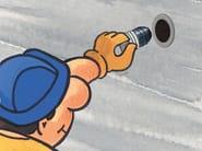 Tappo a tenuta per distanziatori di cassero tubolari in PVC