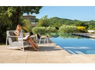 Garden armchair with removable cover with armrests COTTAGE | Garden armchair by Talenti