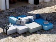 Divano da giardino componibile sfoderabile in tessuto DEAUVILLE by Unopiù