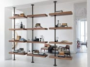 Walnut bookcase DOMINO EXPO by Porada