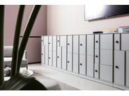 Metal office storage unit with hinged doors with lock ECHO LOCKERS by Dieffebi