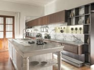 Custom eucalyptus kitchen with island ESSENZA | Exotic Showroom by Martini Interiors