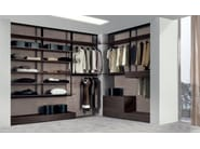 Corner sectional walk-in wardrobe FLY -SYSTEM By Longhi