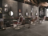Porcelain stoneware wall/floor tiles with stone effect GROOVE MISTIQUE BLACK by Provenza